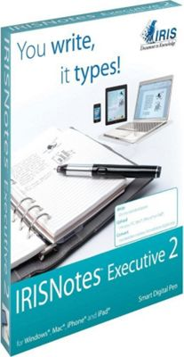 I.R.I.S. IRISnotes Executive 2 Digital Pen Black - I.R.I.S. Electronic Accessories