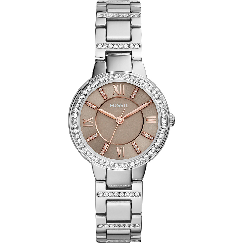 Fossil Virginia Three-Hand Stainless Steel Watch Silver - Fossil Watches - Fashion Accessories, Watches