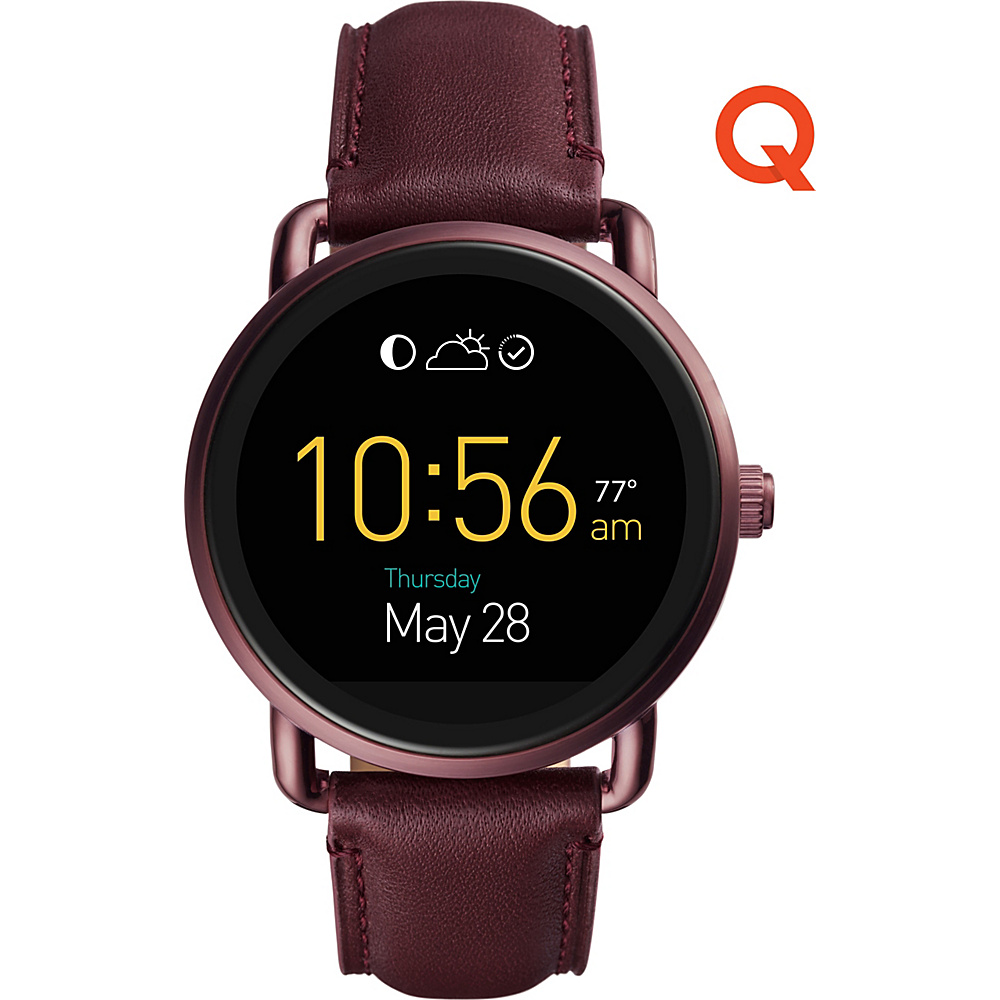Fossil Q Wander Touchscreen Leather Smartwatch Red - Fossil Wearable Technology - Technology, Wearable Technology