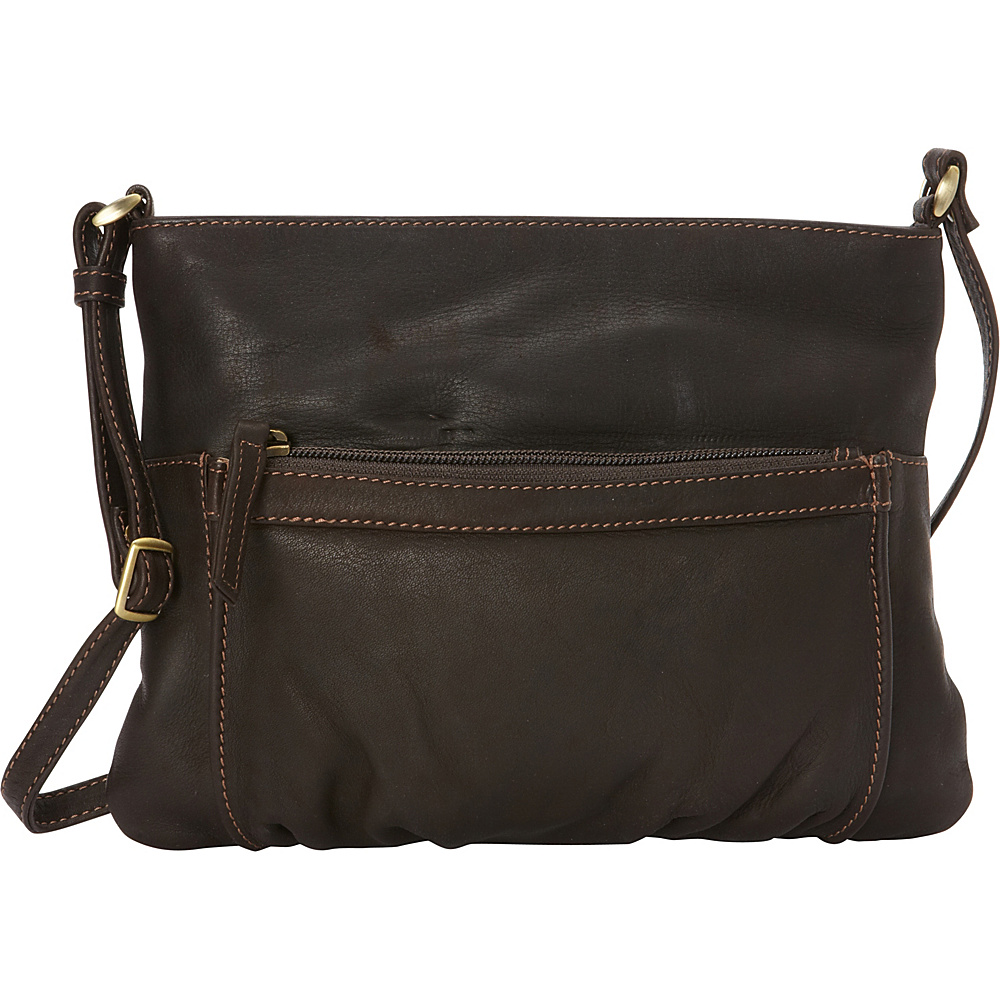 Derek Alexander Top Zip Convertible Crossbody Brown - Derek Alexander Leather Handbags - Handbags, Leather Handbags