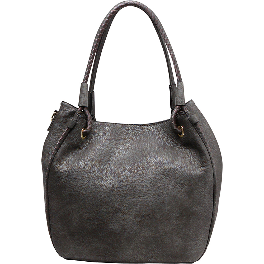MKF Collection by Mia K. Farrow Nina Shoulder Handbag Dark Grey - MKF Collection by Mia K. Farrow Gym Bags - Sports, Gym Bags