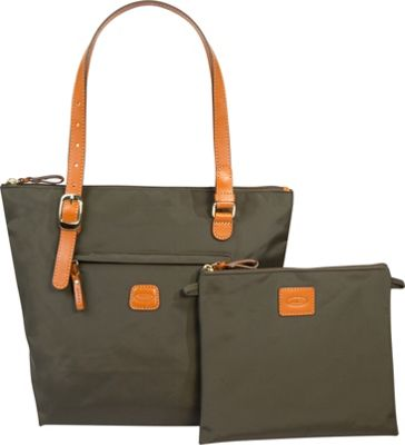 BRIC'S X-Bag Large Sportina Shopper Tote Olive - BRIC'S All-Purpose Totes