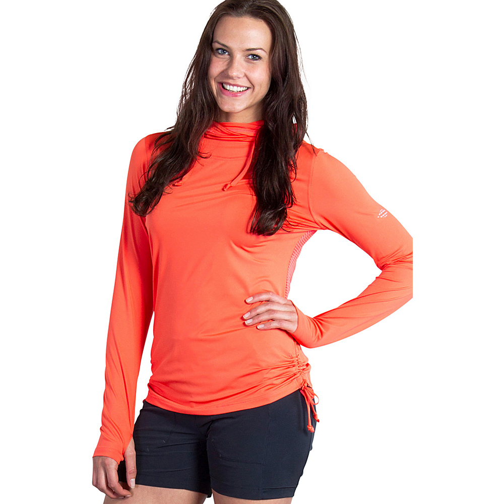 ExOfficio Womens Sol Cool Ultimate Hoody XS - Hot Coral - ExOfficio Womens Apparel - Apparel & Footwear, Women's Apparel
