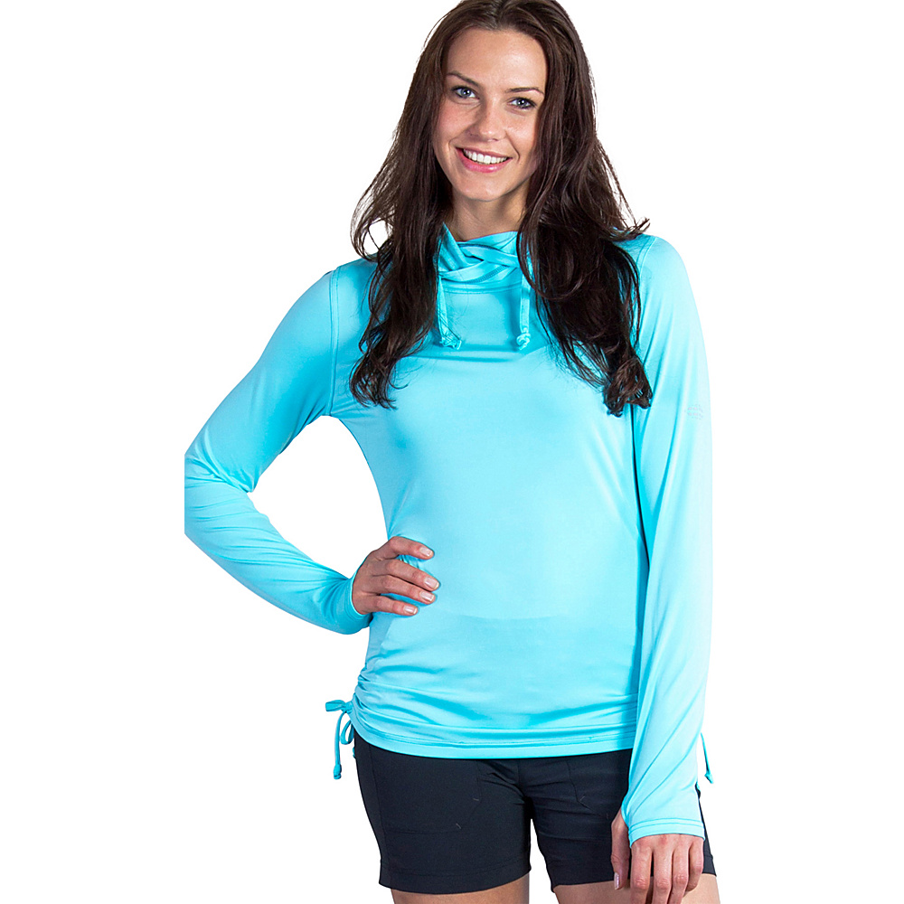ExOfficio Womens Sol Cool Ultimate Hoody L - Azul - ExOfficio Womens Apparel - Apparel & Footwear, Women's Apparel