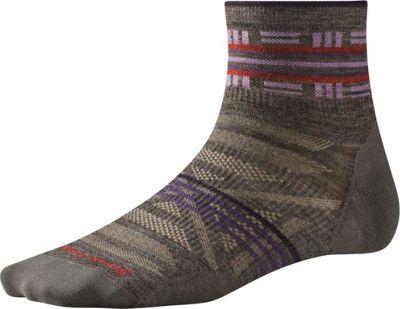 Smartwool Womens PhD Outdoor Ultra Light Pattern Mini Taupe - Small - Smartwool Women's Legwear/Socks