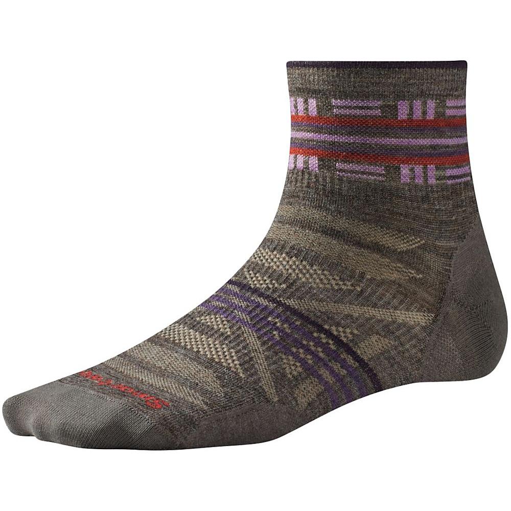 Smartwool Womens PhD Outdoor Ultra Light Pattern Mini Taupe Medium Smartwool Women s Legwear Socks