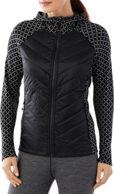 Smartwool Womens Double Propulsion 60 Hoody M - Black/Light Gray - Smartwool Women's Apparel