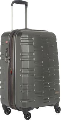 Antler Prism Embossed DLX 21 inch Carry On Hardside Spinner Charcoal - Antler Hardside Carry-On