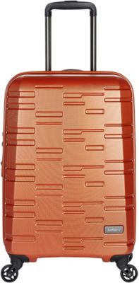 Antler Prism Embossed DLX 21 inch Carry On Hardside Spinner Orange - Antler Hardside Carry-On