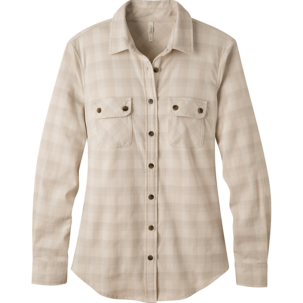 Mountain Khakis Peaks Flannel Shirt S - Cream - Mountain Khakis Mens Apparel - Apparel & Footwear, Men's Apparel