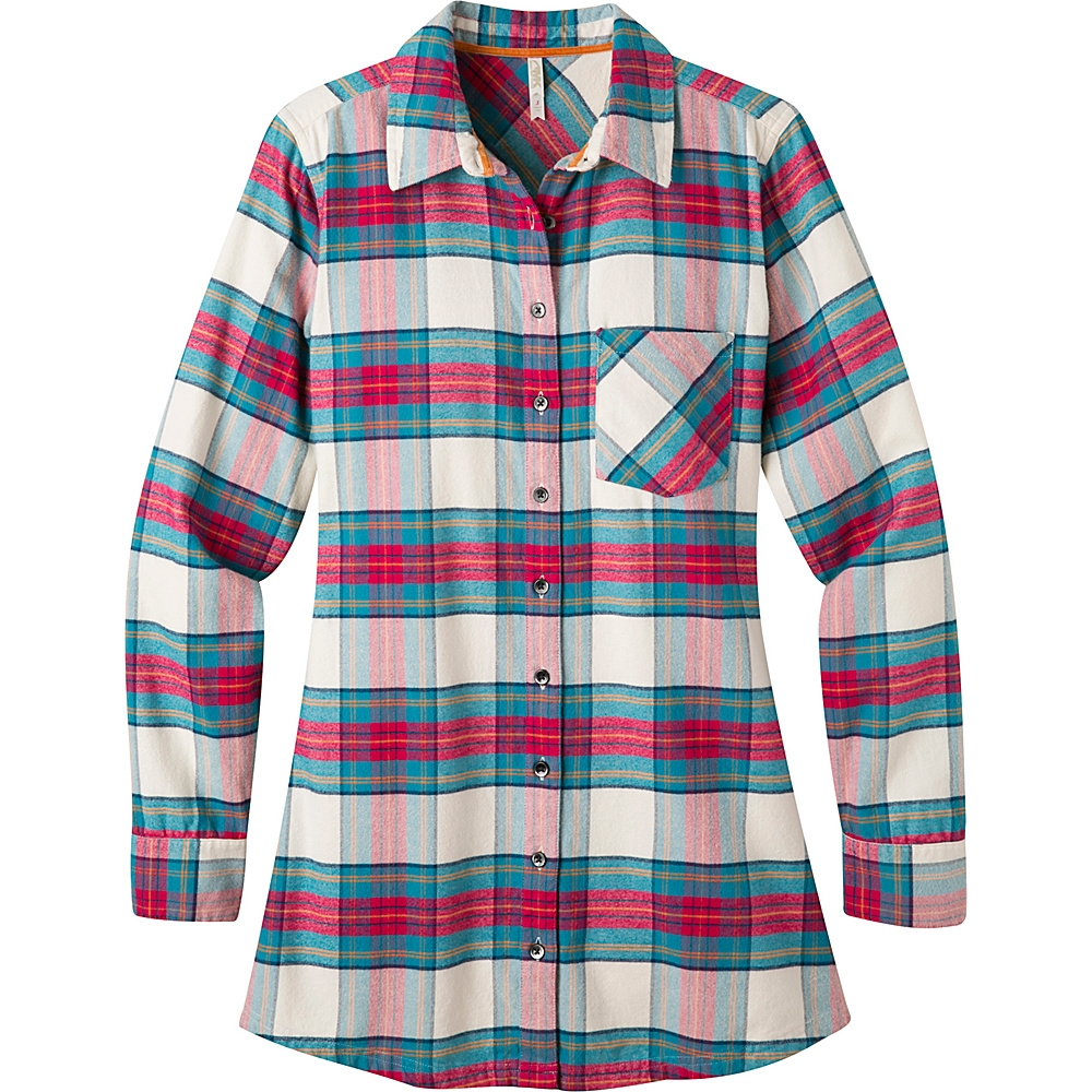 Mountain Khakis Penny Plaid Tunic Shirt S - Cream - Mountain Khakis Womens Apparel - Apparel & Footwear, Women's Apparel