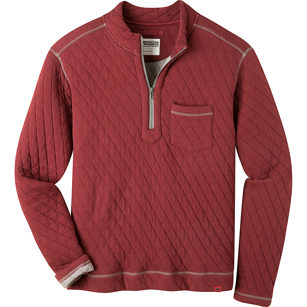 Mountain Khakis Hideaway Pullover Sweater M - Malbec - Mountain Khakis Mens Apparel - Apparel & Footwear, Men's Apparel