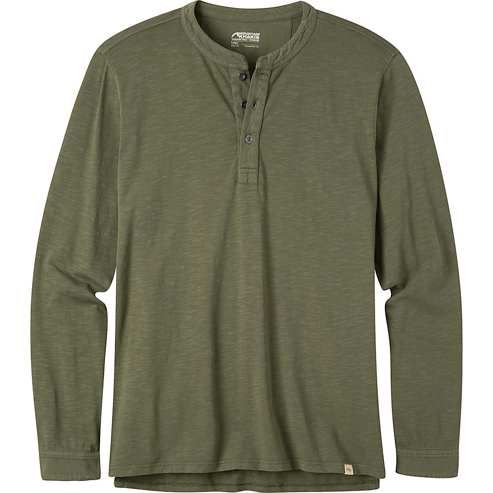 Mountain Khakis Mixer Henley Shirt L - Field Green - Mountain Khakis Mens Apparel - Apparel & Footwear, Men's Apparel