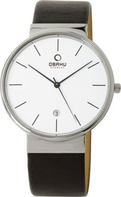 Obaku Watches Mens Leather Watch Black/Silver - Obaku Watches Watches
