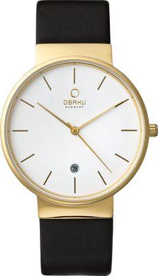 Obaku Watches Mens Leather Watch Black/Gold - Obaku Watches Watches