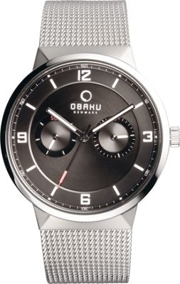 Obaku Watches Mens Multifunction Stainless Steel Mesh Watch Silver/Black - Obaku Watches Watches