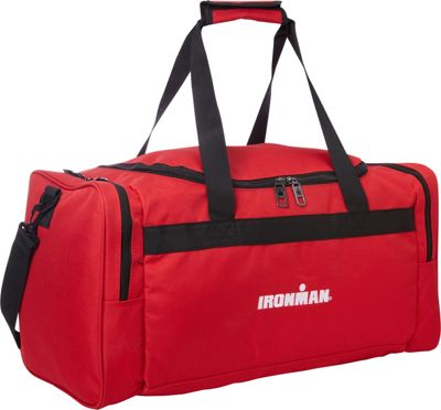 Travelway Group International IRONMAN Duffel Red - Travelway Group International Gym Duffels