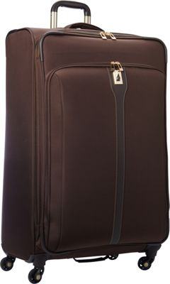 London Fog Knightsbridge Hyperlight 29 inch Expandable Spinner Chocolate - London Fog Softside Checked