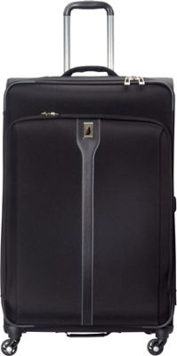 London Fog Knightsbridge Hyperlight 29 inch Expandable Spinner Black - London Fog Softside Checked