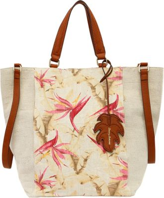 Tommy Bahama Handbags Coral Reef Convertible Tote Birds of Paradise - Tommy Bahama Handbags Fabric Handbags