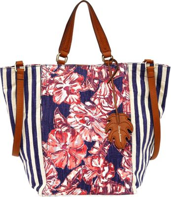 Tommy Bahama Handbags Coral Reef Convertible Tote Tropical Flowers - Tommy Bahama Handbags Fabric Handbags