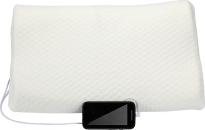 Image of 1Voice Memory Foam Music Pillow with Built-in Speakers White - 1Voice Electronic Accessories