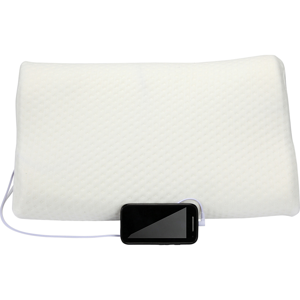 1Voice Memory Foam Music Pillow with Built in Speakers White 1Voice Electronic Accessories