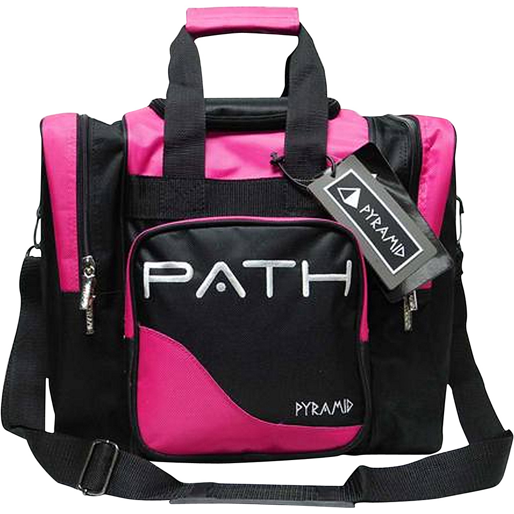 Pyramid Path Pro Deluxe Single Tote Bowling Bag Hot Pink Pyramid Bowling Bags