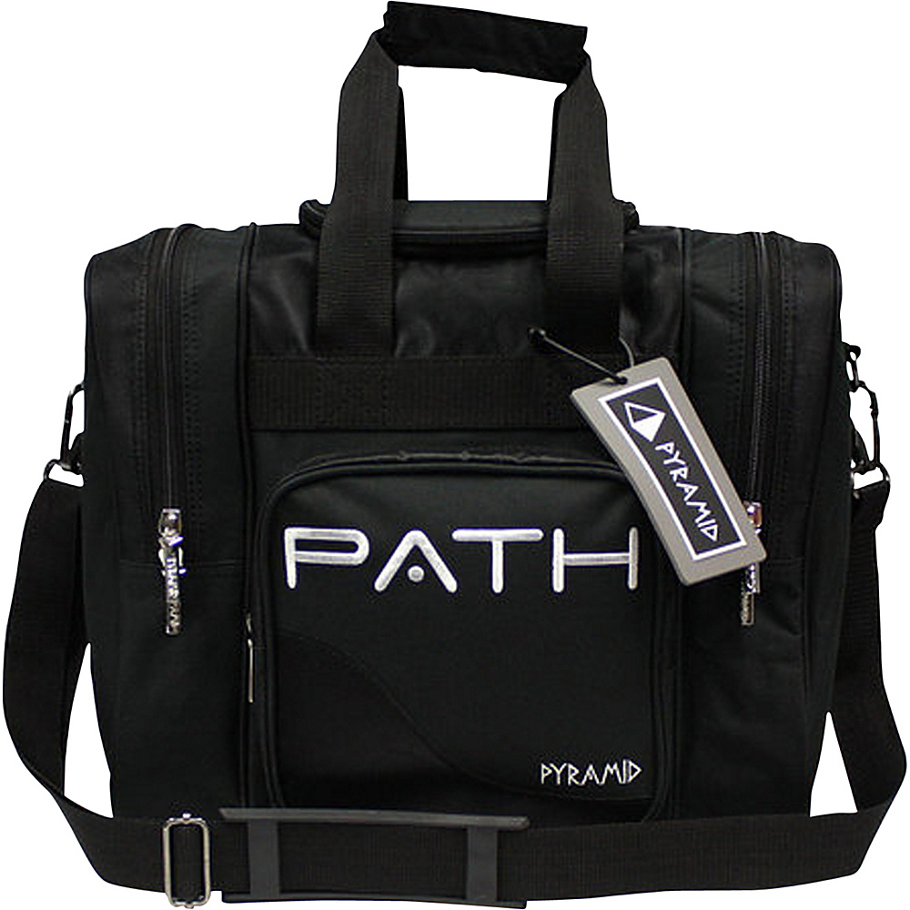 Pyramid Path Pro Deluxe Single Tote Bowling Bag Black Pyramid Bowling Bags