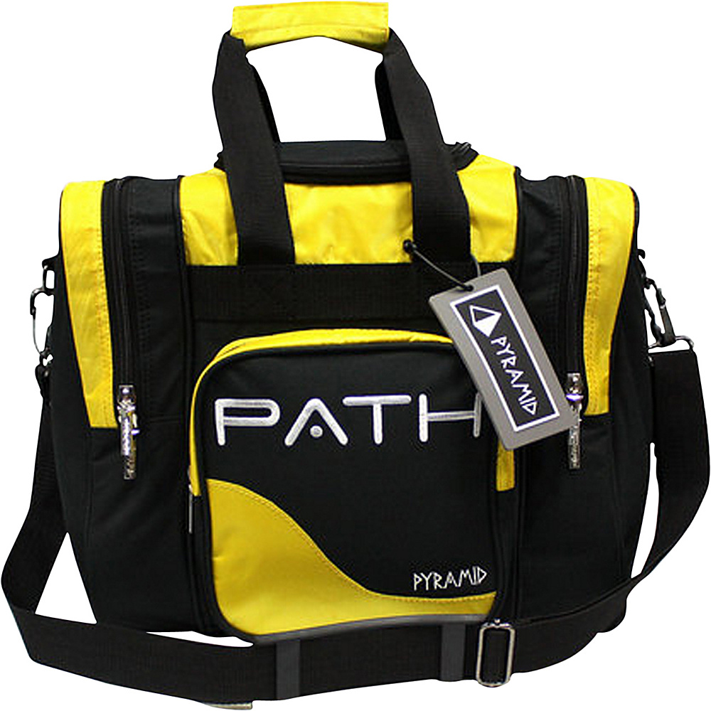 Pyramid Path Pro Deluxe Single Tote Bowling Bag Yellow Pyramid Bowling Bags
