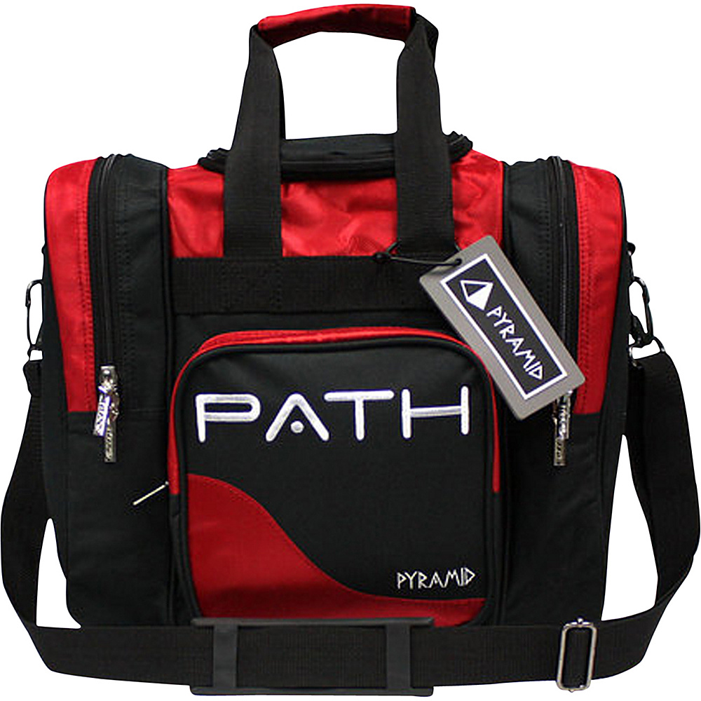 Pyramid Path Pro Deluxe Single Tote Bowling Bag Red Pyramid Bowling Bags
