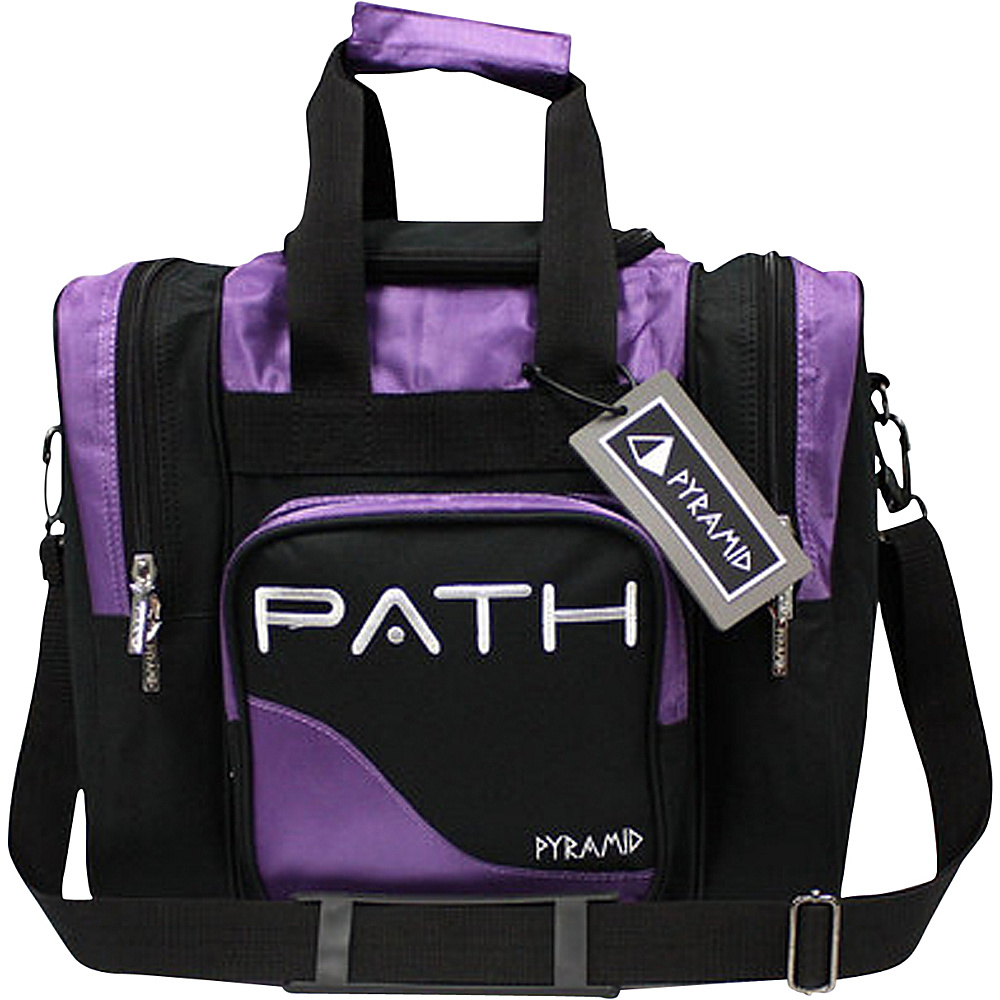 Pyramid Path Pro Deluxe Single Tote Bowling Bag Purple Pyramid Bowling Bags