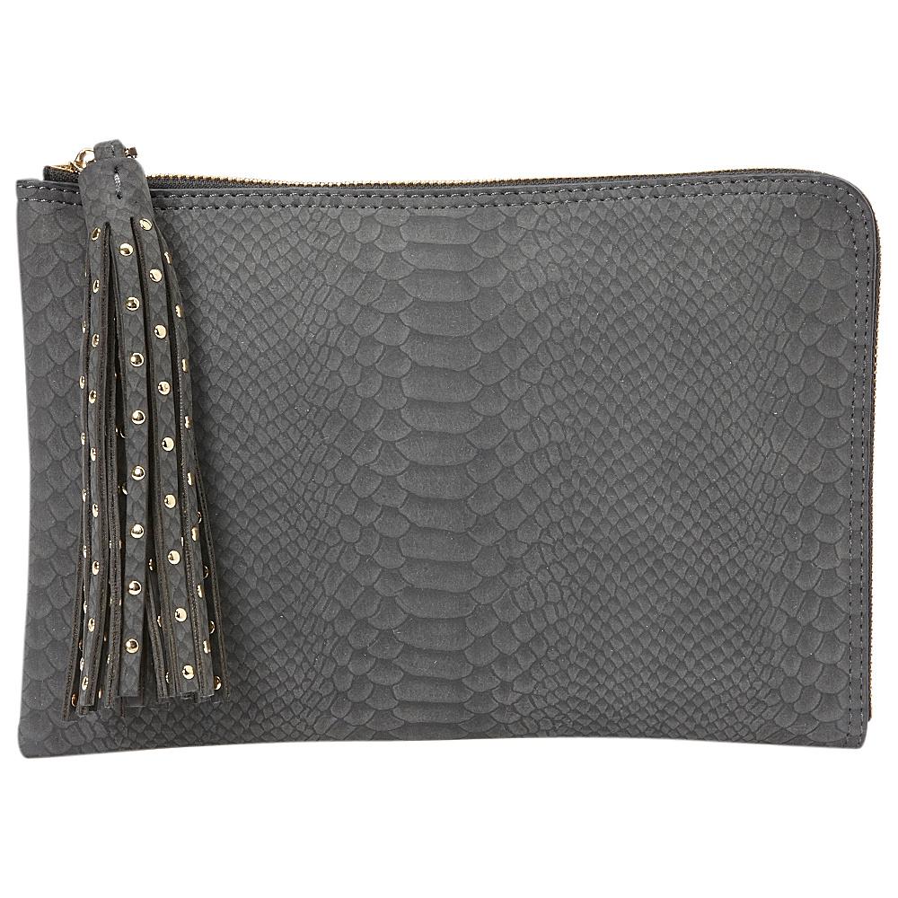 deux lux Juniper L Zip Pouch Charcoal deux lux Manmade Handbags