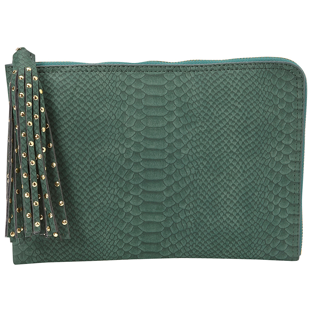 deux lux Juniper L Zip Pouch Hunter deux lux Manmade Handbags