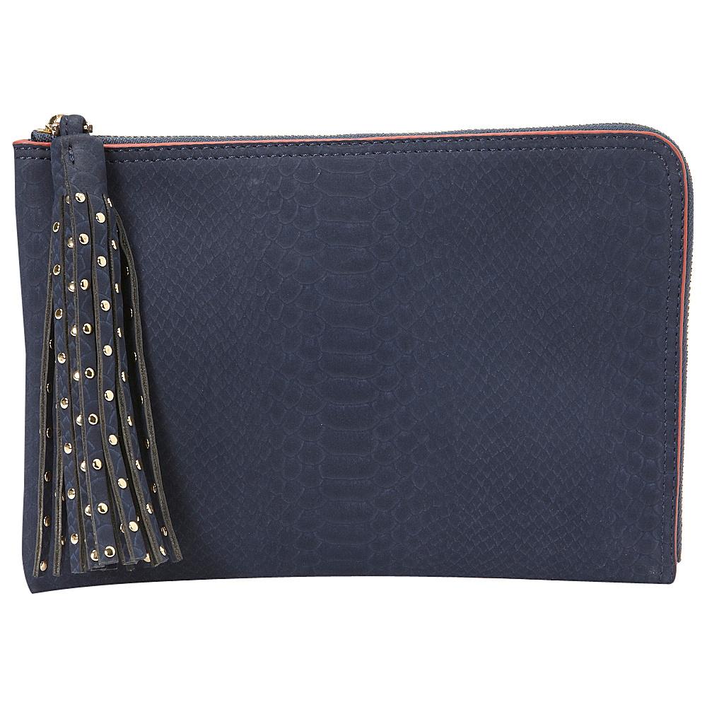 deux lux Juniper L Zip Pouch Navy deux lux Manmade Handbags