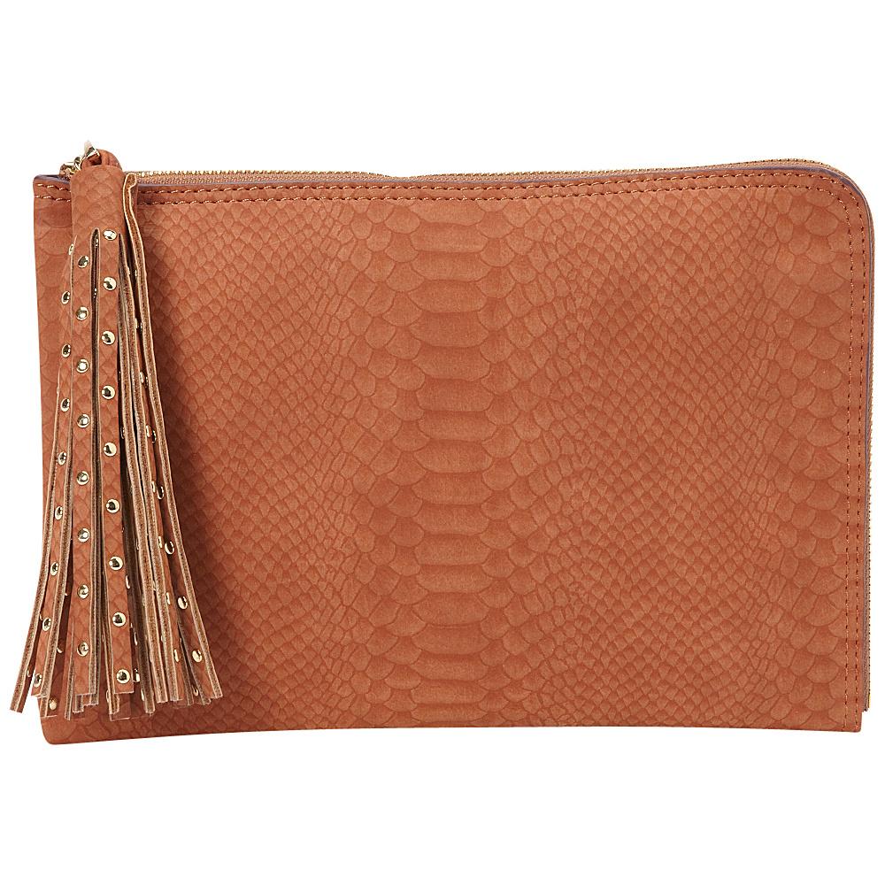 deux lux Juniper L Zip Pouch Cognac deux lux Manmade Handbags