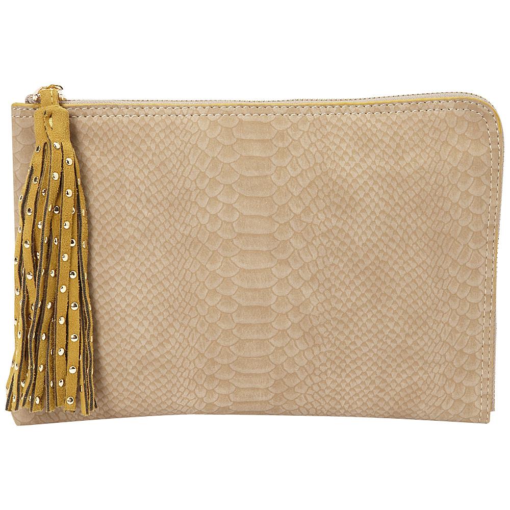 deux lux Juniper L Zip Pouch Mink deux lux Manmade Handbags