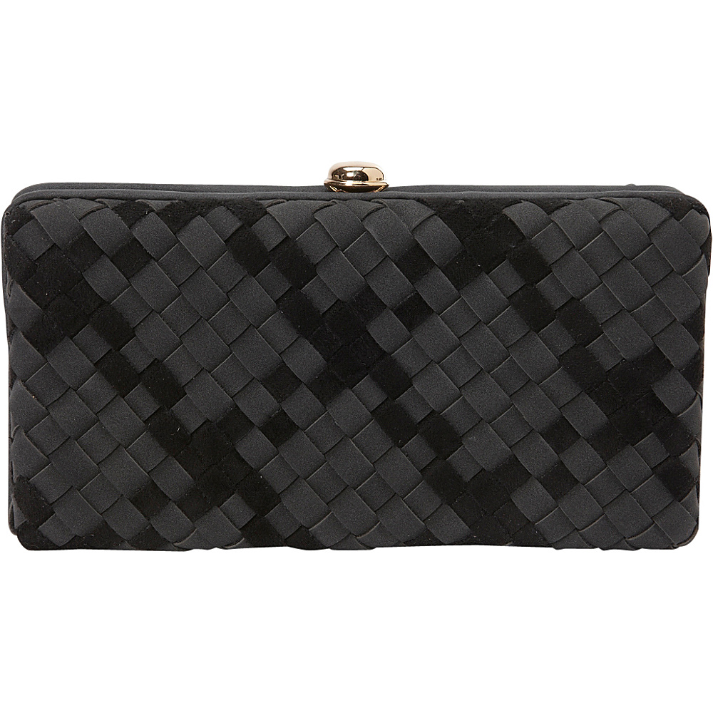 deux lux Delaney Box Clutch Black deux lux Manmade Handbags