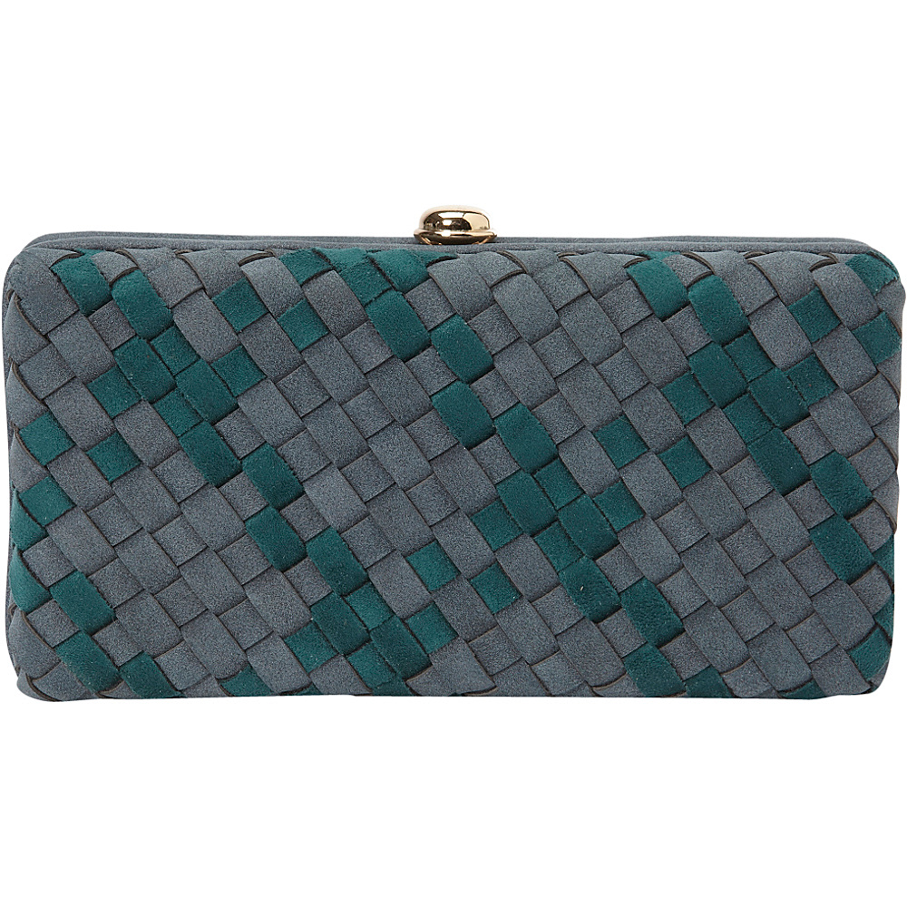 deux lux Delaney Box Clutch Slate deux lux Manmade Handbags