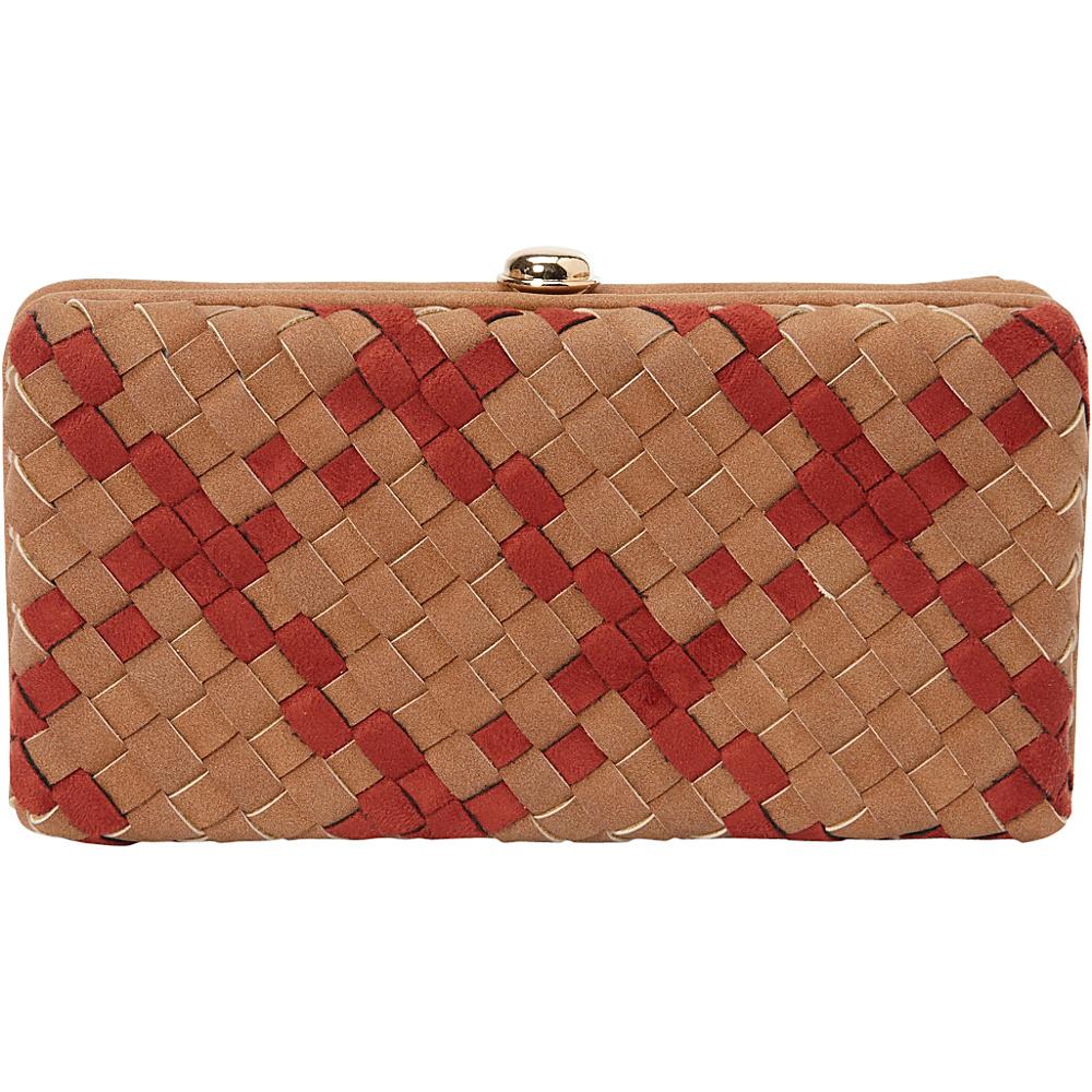 deux lux Delaney Box Clutch Cognac deux lux Manmade Handbags