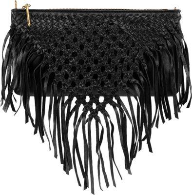 Elliott Lucca Lucca 3-Way Demi Crossbody Black Macrame - Elliott Lucca Designer Handbags
