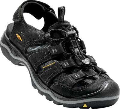 KEEN Mens Rialto Sandal 7.5 - Black / Gargoyle - KEEN Men's Footwear