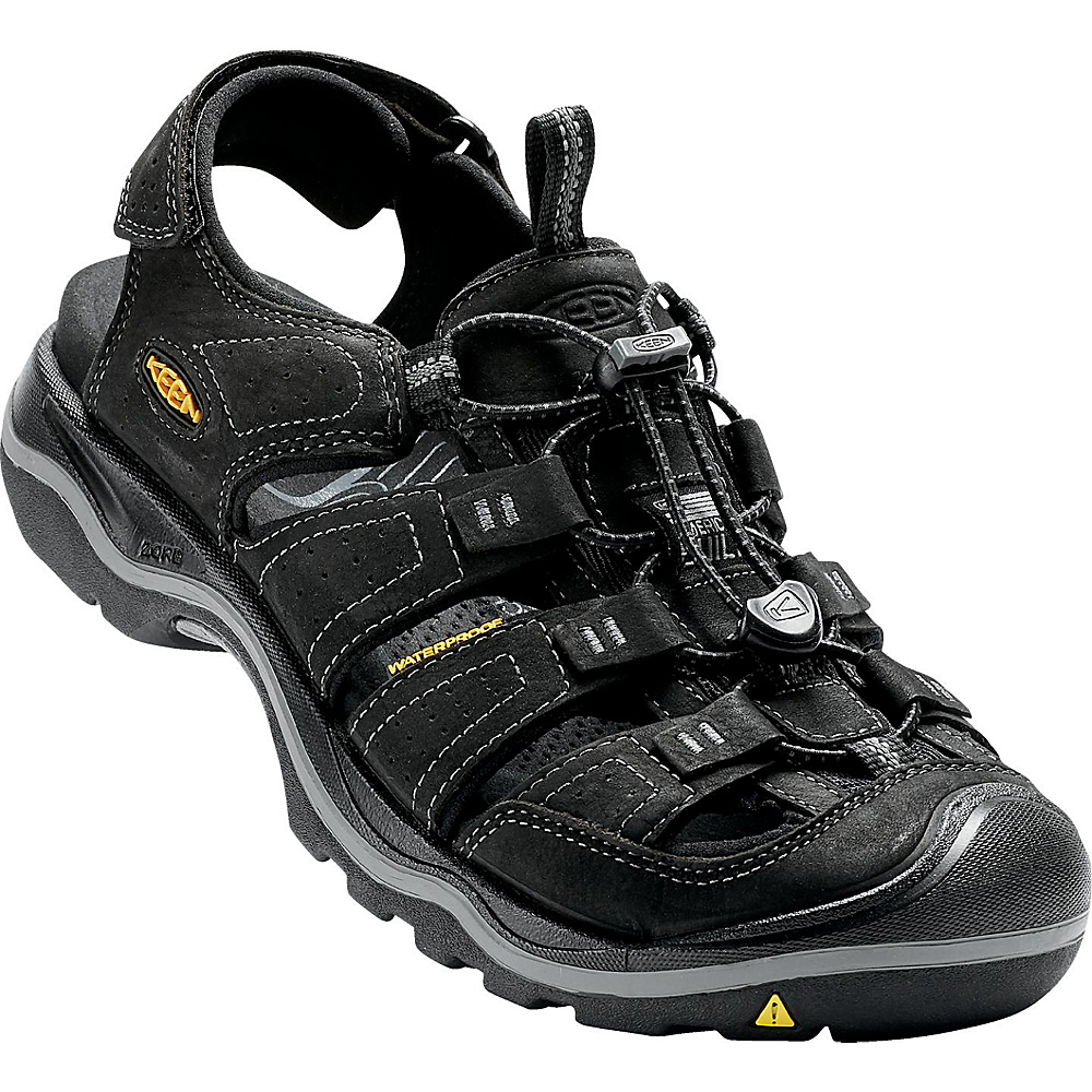 KEEN Mens Rialto Sandal 7.5 - Black / Gargoyle - KEEN Mens Footwear - Apparel & Footwear, Men's Footwear