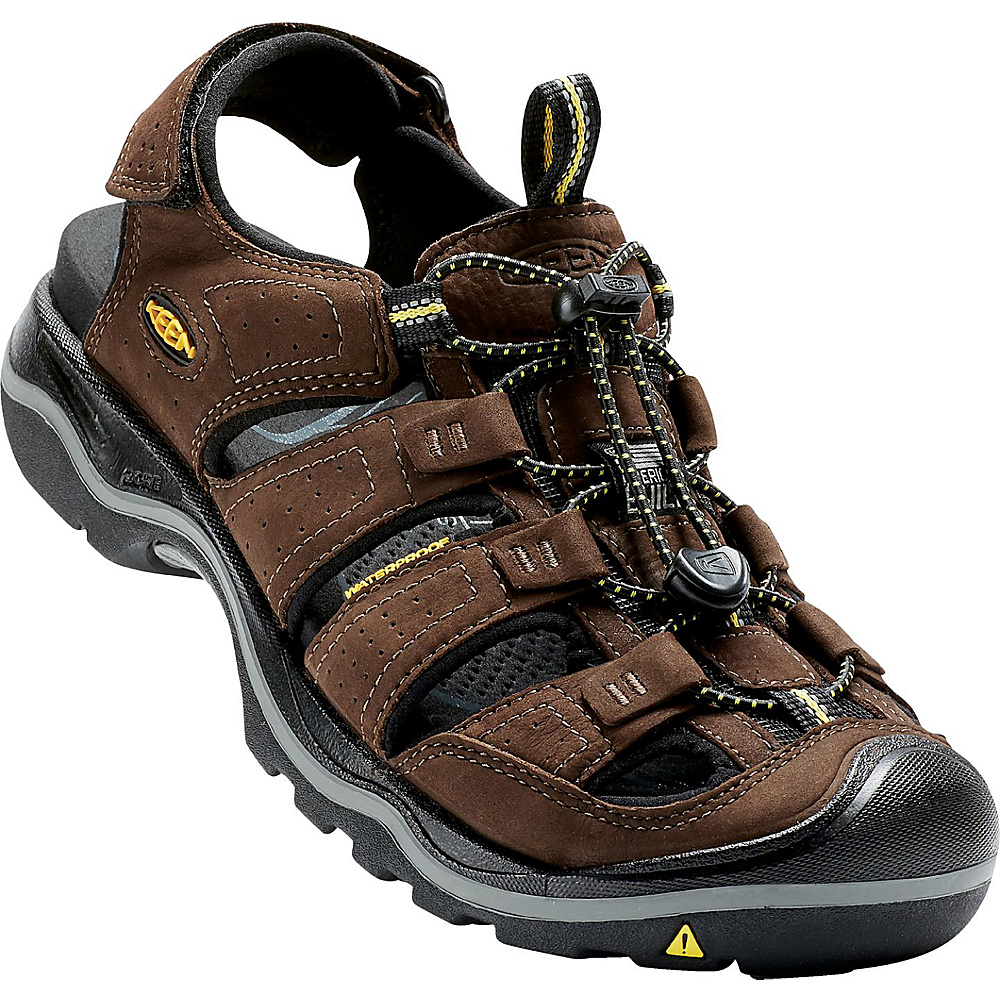 KEEN Mens Rialto Sandal 7.5 - Bison/Black - KEEN Mens Footwear - Apparel & Footwear, Men's Footwear