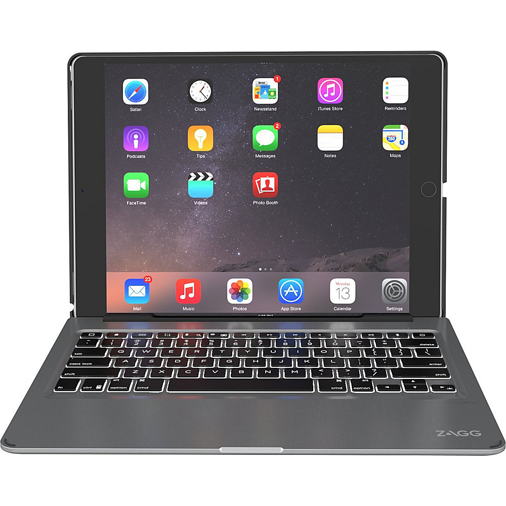 Zagg Ultrathin Slim Book Hinged Backlit Keyboard for iPad Pro 12.9 Black Zagg Electronic Cases