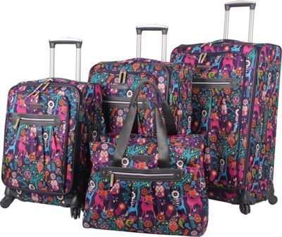 Lily Bloom Wild Woods 4PC Spinner Collection WildWoods - Lily Bloom Luggage Sets