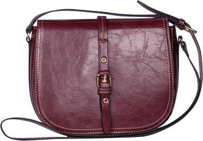 Emilie M Dakota Flap Crossbody Ruby - Emilie M Leather Handbags