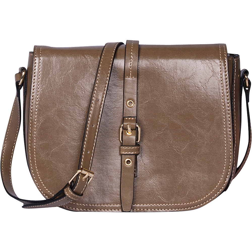 Emilie M Dakota Flap Crossbody Olive Emilie M Manmade Handbags