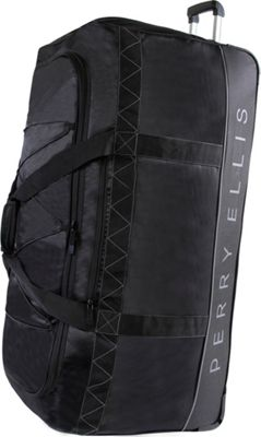 Perry Ellis Extra Large 35 inch Rolling Duffel Bag Black/Grey - Perry Ellis Softside Checked