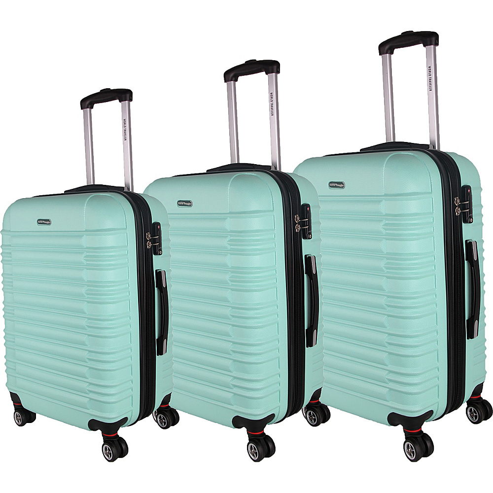 World Traveler California II 3-Piece Hardside Spinner Luggage Set Mint - World Traveler Luggage Sets - Luggage, Luggage Sets
